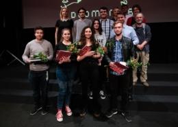 skupinska slika prejemnikov nagrad na festivalu Videomanija 2019